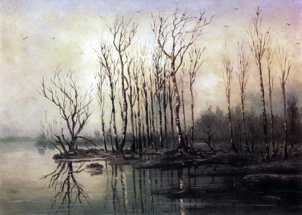 Alexei Savrasov - Early spring. Flood. 1868