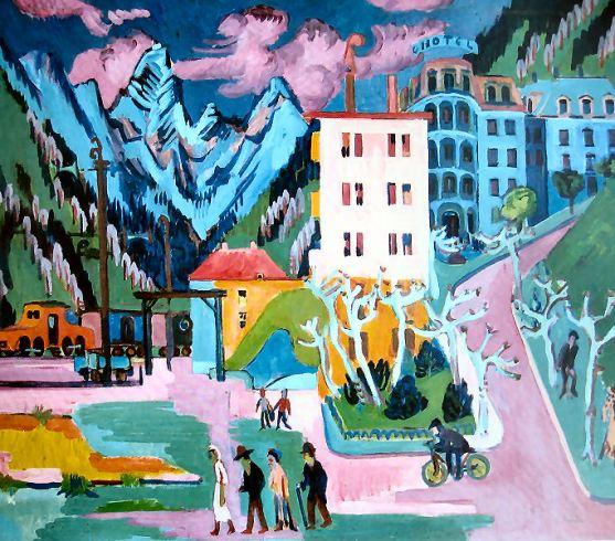 Ernst Ludwig Kirchner - Bahnhof Davos