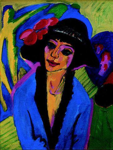 Ernst Ludwig Kirchner - Bildnis Gerda