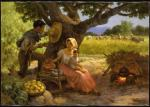 Fernando Amorsolo - Afternoon Meal Under the Mango Tree