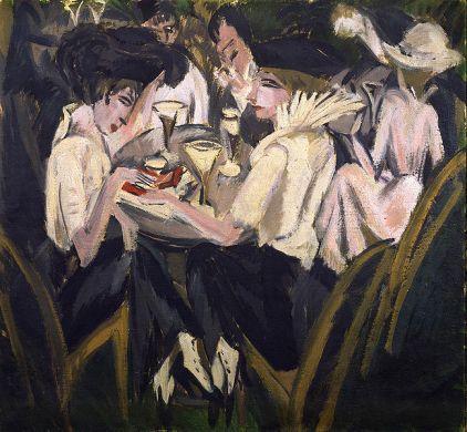 Ernst Ludwig Kirchner - Im Cafégarten