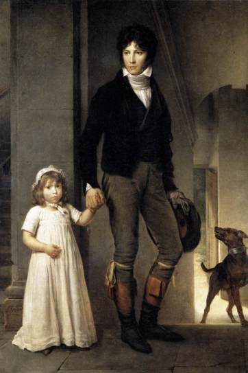 François Gérard - Jean-Baptiste Isabey, Miniaturist, with his daughter
