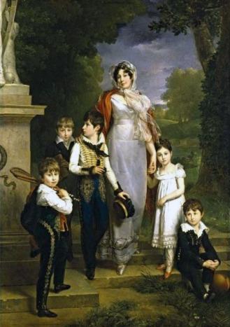 François Gérard - Portrait de la maréchale Lannes et ses enfants.
