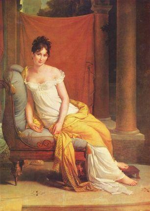 François Gérard - Porträt der Madame Récamier