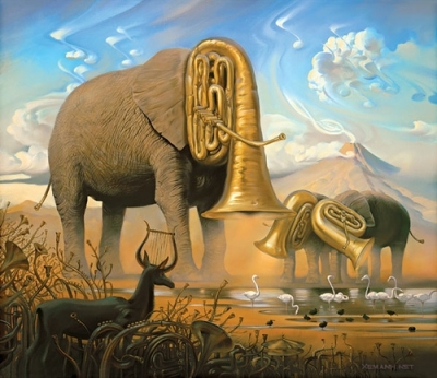 Salvador Dalí - elephants music