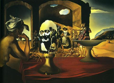 Salvador Dalí - Slave Market with the Disappearing Bust of Voltaire