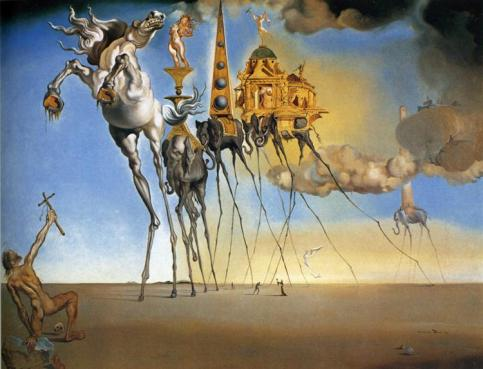 Salvador Dalí - The Temptation of St. Anthony