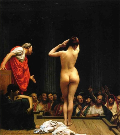 Jean-Léon Gérôme - Selling Slaves in Rome