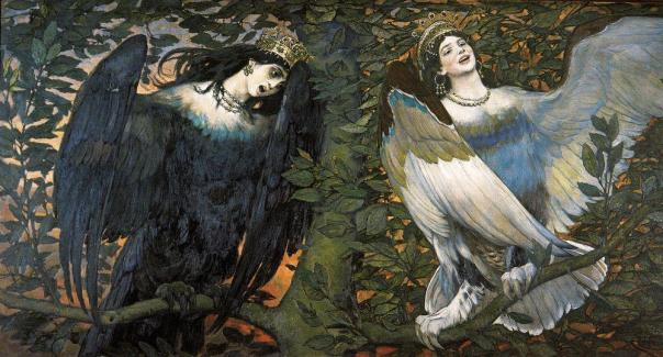 Viktor Vasnetsov - Sirin (left) and Alkonost (right) – Birds of Joy and Sorrow