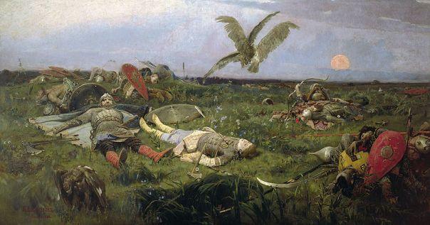 Viktor Vasnetsov - The field of Igor Svyatoslavich's battle with the Polovtsy