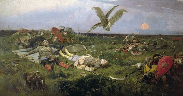 Viktor Vasnetsov - The field of Igor Svyatoslavich's battle with the Polovtsy