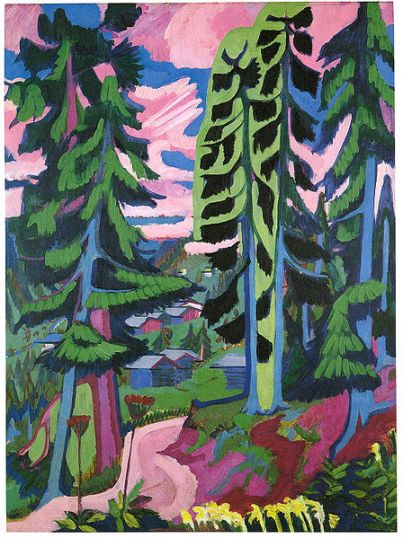 Ernst Ludwig Kirchner - Wildboden, mountains-forest
