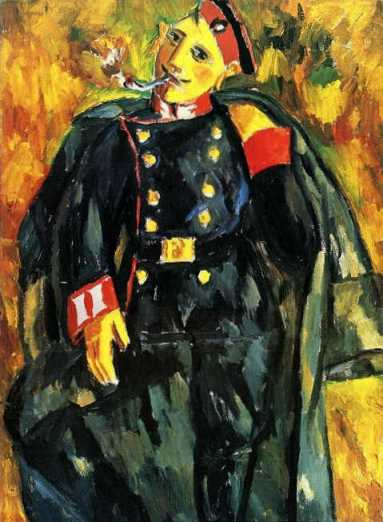 Mikhail Larionov - A Smoking Soldier
