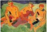 André Derain-Trois personnages sur l'herbe
