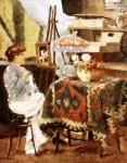 Ştefan Luchian - Atelierul pictorului