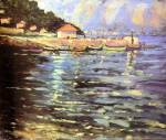Sir Winston Churchill - Boats by a jetty on the Riviera