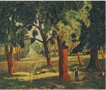 Winston Churchill - Cork Trees Near Mimizan
