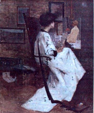 Eustațiu Stoenescu - Femeie în atelier