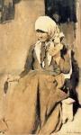 Ştefan Luchian - Femeie torcând