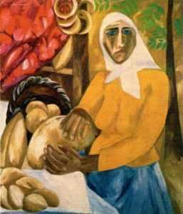 Natalia Goncharova - Bread seller