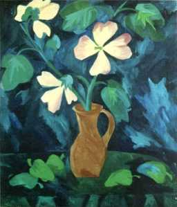 Natalia Goncharova - Flowers and peppers