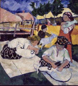 Natalia Goncharova - Sheep-shearing