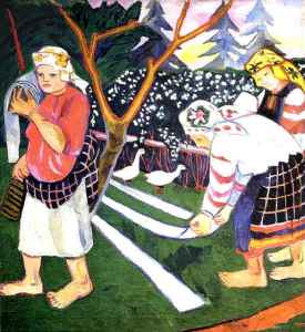 Natalia Goncharova - The Bleaching of Canvas