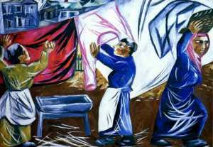 Natalia Goncharova - Drying the Laundry