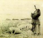 Stefan Luchian - Păstoriţă cu oi