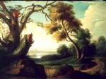 Peisaj cu arbore frânt