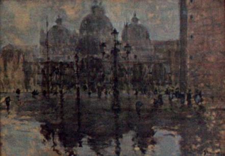 Eustațiu Stoenescu - Piaţa San Marco pe ploaie