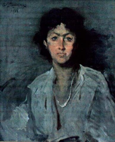 Eustațiu Stoenescu - Portretul arhitectei Henriette Delavrancea Gibory
