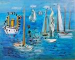 Raoul Dufy - Bateaux Pavoises