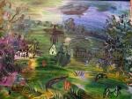 Raoul Dufy - Paysage avec maisons et betail