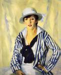 Robert Henri - Viv in Blue Stripe