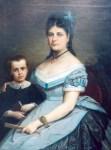 Soţia pictorului cu fiul