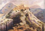 Winston Churchill - View of Eze in the Alpes-Maritimes