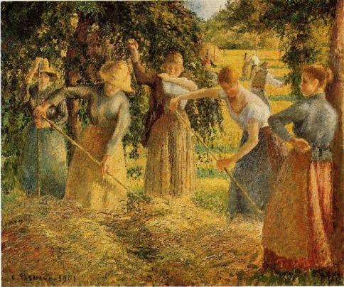 Camille Pissarro - Harvest at Eragny.