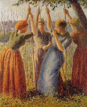 Camille Pissarro - Peasants Planting Pea Sticks
