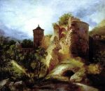 Carl Blechen - The Ruined Tower of Heidelberg Castle
