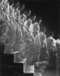 Duchamp descending a staircase. Eliot Elisofon. 1952