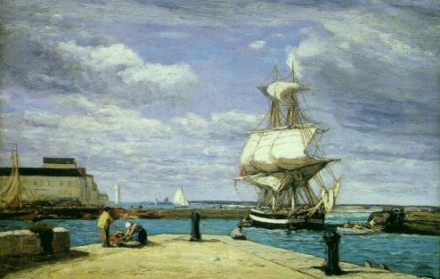 Eugène Boudin - Honfleur. Le Port
