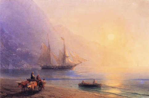Ivan Aivazovsky - Loading Provisions off the Crimean Coast