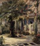 Karl Blechen - In the Palm House in Potsdam