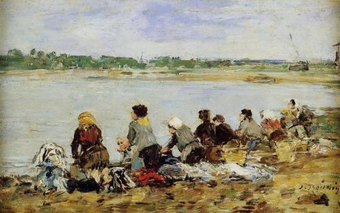 Eugène Boudin - Laveuses au bord de la Touques
