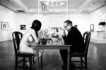 Marcel Duchamp and Eve Babitz playing Chess,photo by Julian Wasser