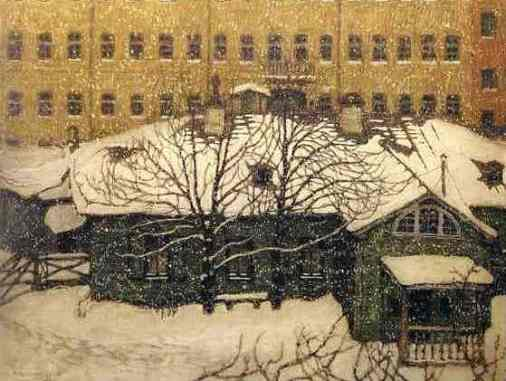 Mstislav Dobuzhinsky. A Small House in St. Petersburg