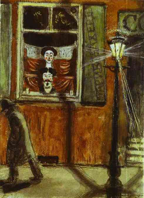 Mstislav Dobuzhinsky. Barbershop Window