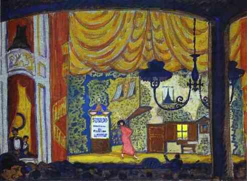 Mstislav Dobuzhinsky. Denmark. A Small Theatre