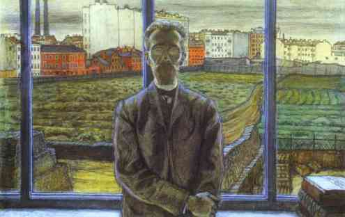 Mstislav Dobuzhinsky. Man with Spectacles. Portrait of the Art Critic and Poet Constantin Sunnerberg